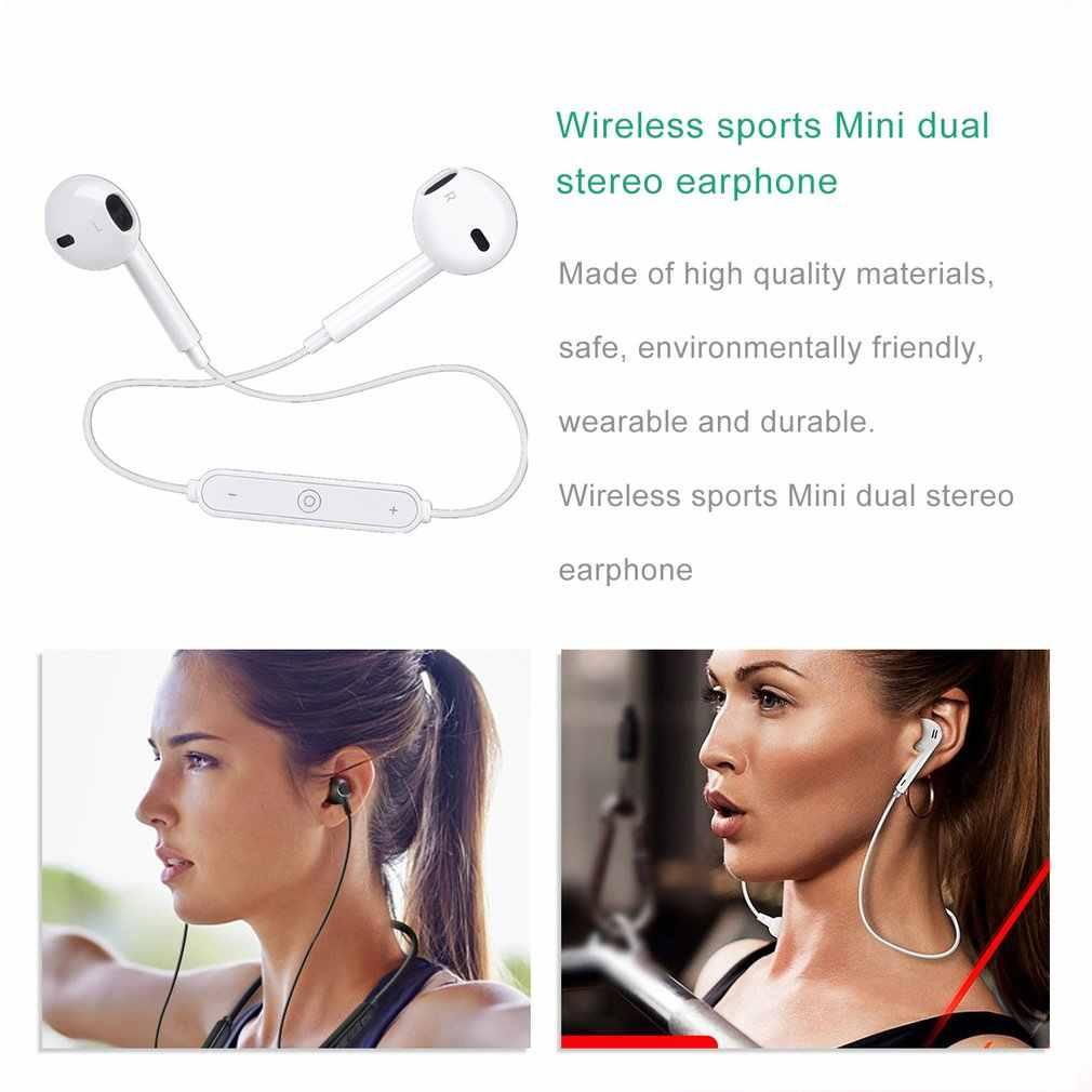 S6 Drahtlose Bluetooth Kopfhörer Sport Bluetooth V4.1 Kopfhörer Mini Dual Stereo In Ohr Lautsprecher-Hand freies Mic Kopfhörer