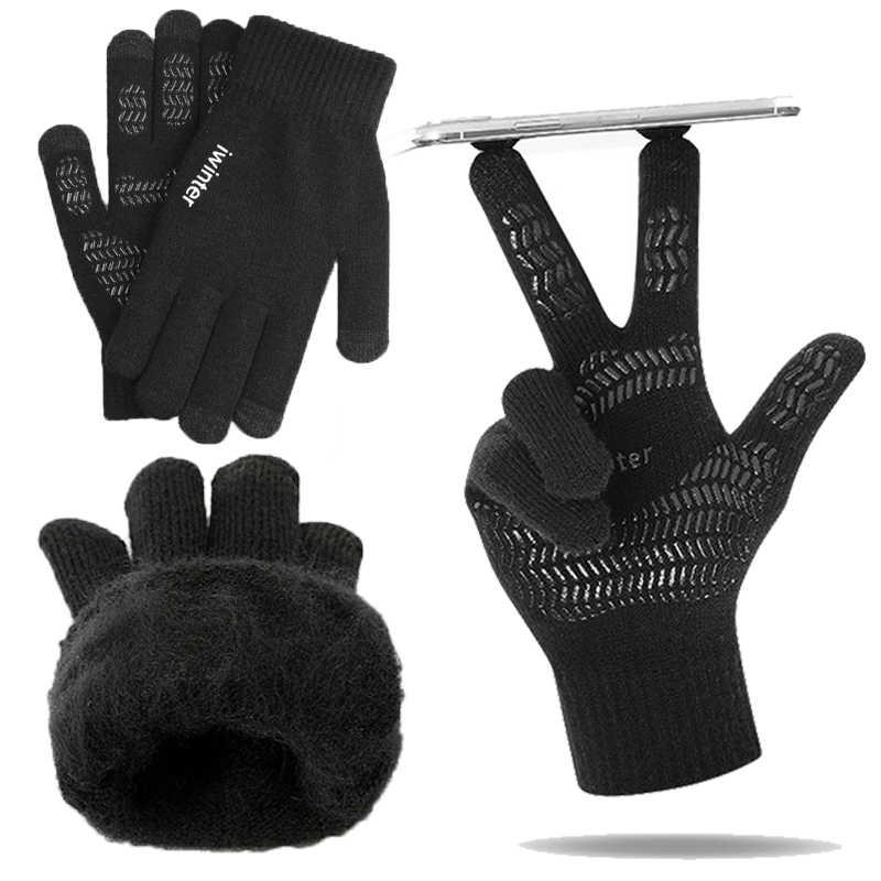 Unisex Winter Outdoor Sport Running Handschoen Warme Touch Screen Gym Fitness Volledige Vinger Handschoenen Fietsen Handschoenen Hot Koop Handschoenen