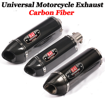 38-51mm Motorcycle Exhaust For Yoshimura real Carbon Fiber Muffler Pipe 420mm With DB Killer pitbike gsr 600 cb650f R77 RS cafe universal inlet 51mm length 380mm 470mm motorcycle exhaust muffler pipe with db killer full carbon fiber motorbike exhaust pipe page 1