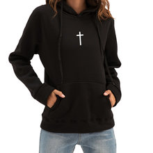 Женские толстовки с капюшоном jesus christian cross свободный