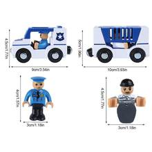 New Multi-functional Police Car Fire Truck Ambulance Toy Remote Control Car Toy For Kids Compatible With Thomas Wooden Track(China)