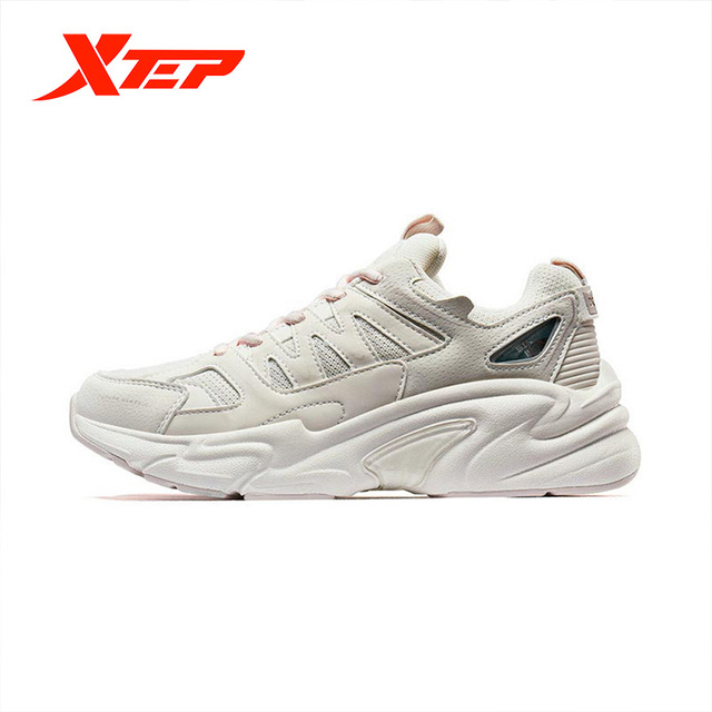 Xtep Women's Casual Shoes Summer Sports Chunky Sneakers Shoes Women's Breathable Casual Old Sneakers 881318329127 2