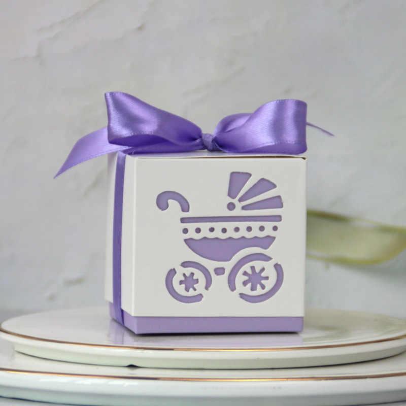 Новая пустотелая коляска в Европейском стиле, Свадебная коробка для конфет, креативная детская коробка для конфет, Подарочная бумажная коробка для полной Луны