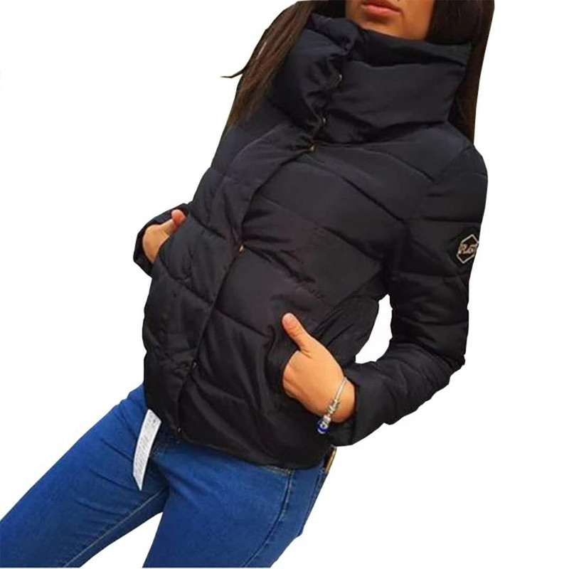 Dropshipping 2019 New Autumn Winter Coat Women Fashion Female Down Jacket Women Parkas Casual Jackets Warm Parka Overcoat