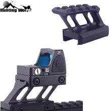 Tactical 4 slots de alta perfil riser montagem se encaixa 20mm picatinny weaver ferroviário para caça scope red dot visão laser lanterna