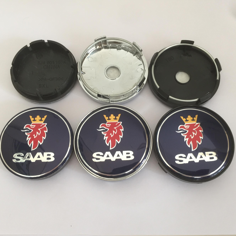 4 шт. 56 мм 60 мм 65 мм 68 мм Saab 9-3 9-5 9-2x 9-5x центральный колпак на колесо автомобиля значок ступицы Чехлы эмблема наклейка Стайлинг