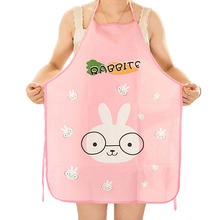 Women Cute Cartoon Korean Style Practical Apron Waterproof Kitchen Restaurant Cooking Pretty Lovely Bib Aprons