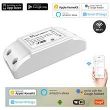 Tuya wi fi interruptor remoto sem fio inteligente módulo controlador de luz relé trabalho interruptor para alexa casa do google para homekit