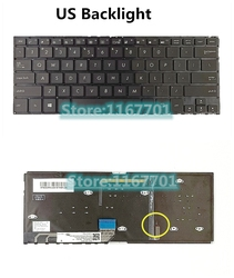 Klawiatura do laptopa/notebooka Asus Zenbook Flip UX360 UX360U UX360UA US RU TH/tajlandia podświetlenie czarny