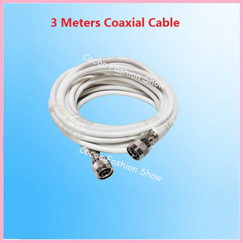 ZQTMAX 3m RG6 Coaxial Cable for Mobile Signal Booster,amplifier,repeater,cable TV line,Communication,shielded coaxial cable 1