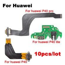 10 יח\חבילה נבדק היטב USB עם מיקרופון מודול לוח להגמיש עבור Huawei P40 P40 לייט P40 פרו Dock מחבר טעינה נמל להגמיש