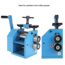 Quality Iron Manual Combination Rolling Mill Machine Jewelry Tabletting Processing Equipment Manual Rolling Mill Tools Jeweler