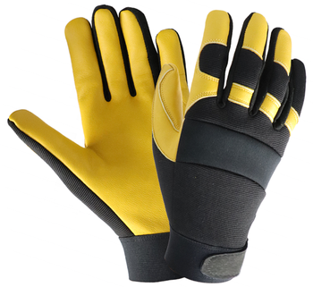 Leather Driver Gloves Top Grain Cowhide Safety Glove Leather Mechanics Work Gloves leather work glove mig tig safety glove premium grain cow leather welding glove
