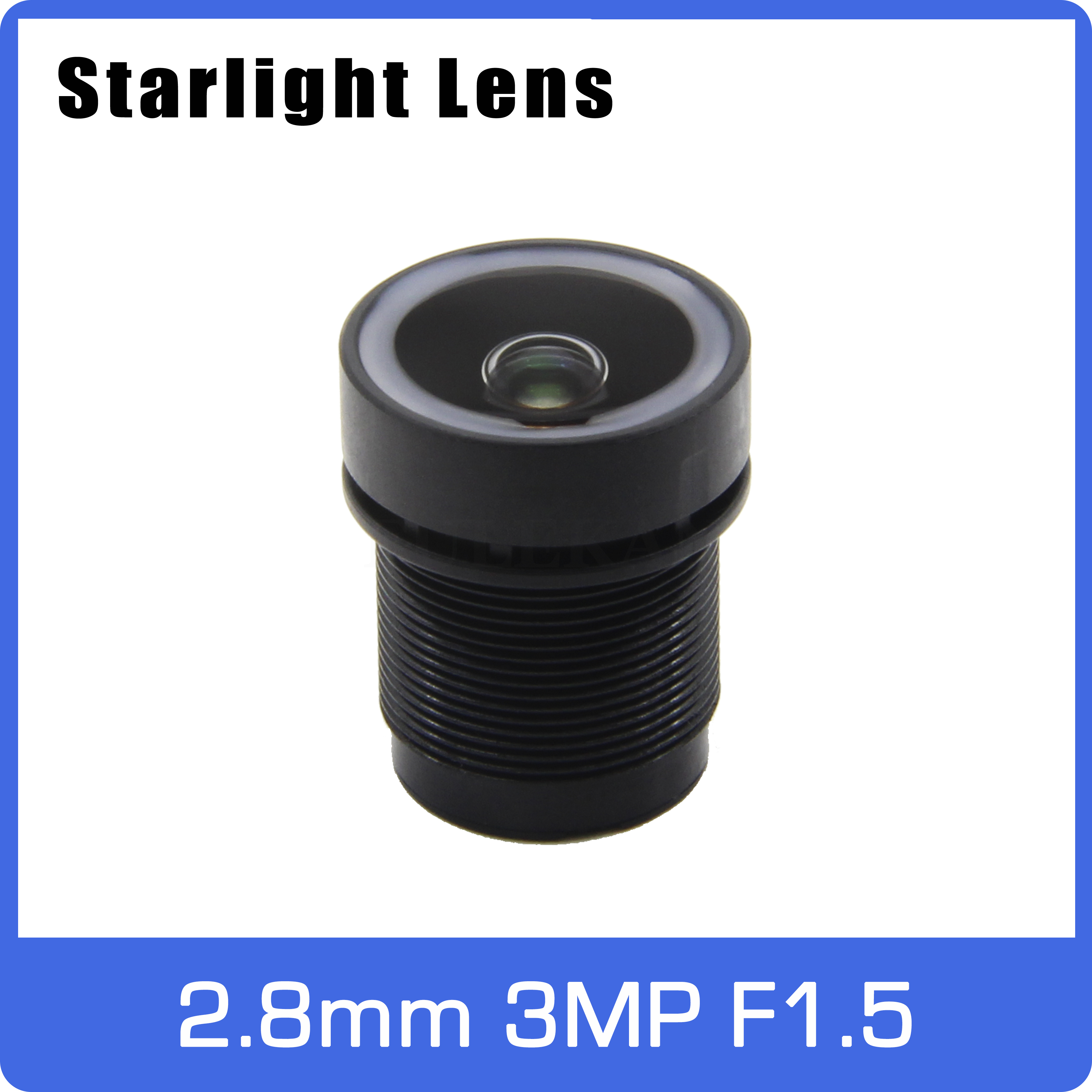 Starlight Lens 3MP 2.8mm Fixed Aperture F1.5 Big Angle For SONY IMX290/291/307/327 Low Light CCTV AHD IP Camera Free Shipping