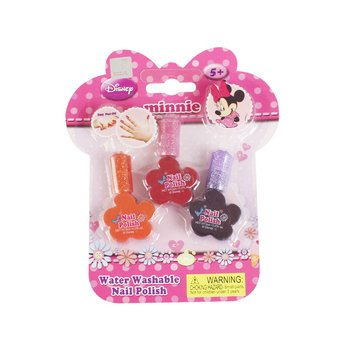 Genuine Children's Nail Polish Minnie 3 Color Nontoxic Can Tear Nail Girl Cosmetics Water-soluble Set Gift Girls Makeup