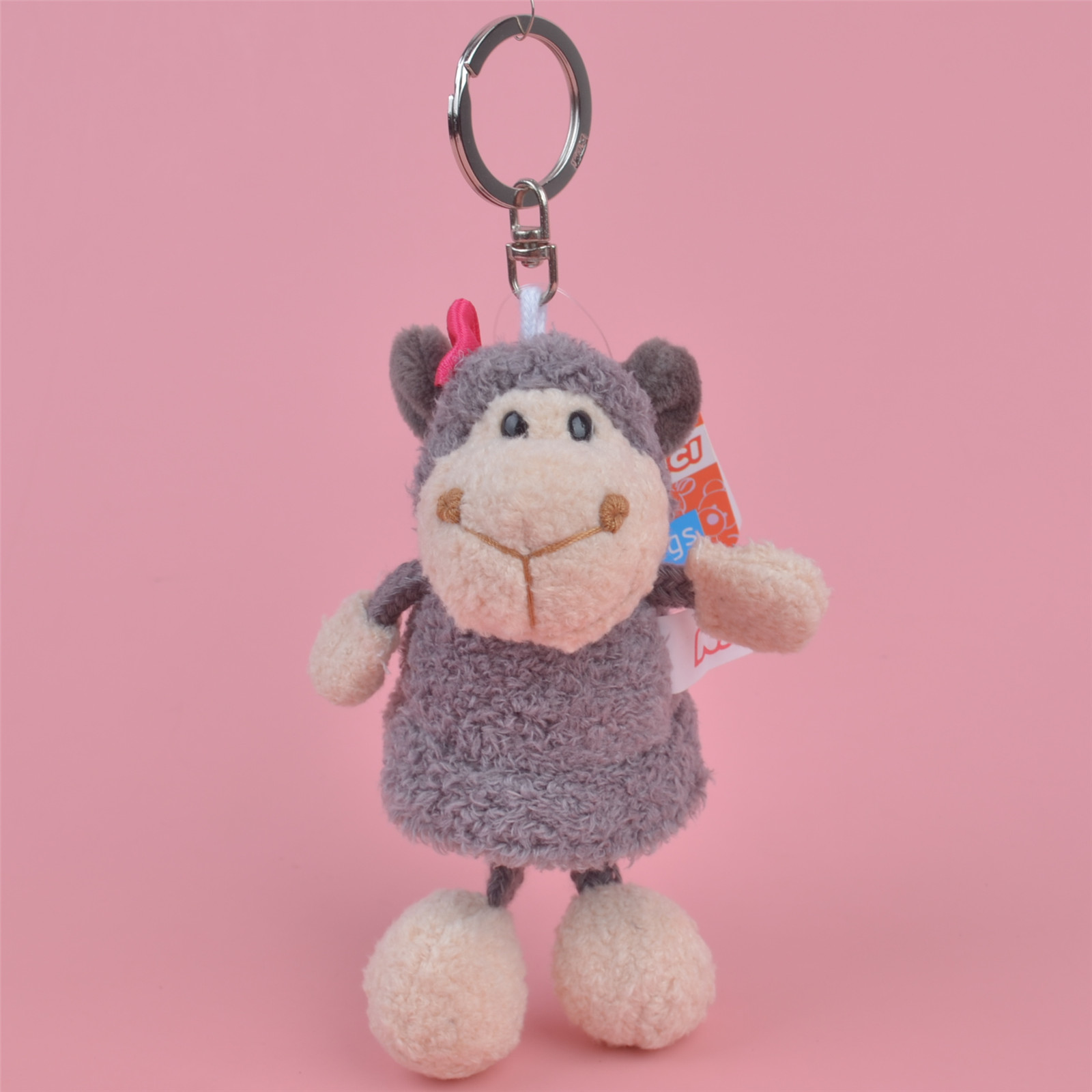 Grey Sheep Animals stuffed Pendant  Keyring Plush Toy, lamb Backpack Decoration  Keychain / Keyholder Gift