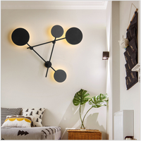 Nordic Iron Geometric Wall Lamp Living Room Decoration Round Wall Lamp Modern Simple Bedroom Bedside Led Designer Wall Lamp