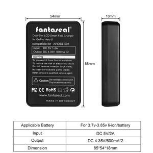 Image 4 - AABAT 001 LCD affichage double canal caméra chargeur de batterie pour Gopro Hero 5 noir caméra batterie chargeur rapide avec indicateur