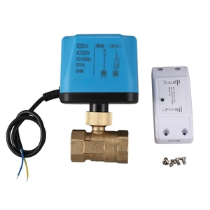 Miniature Motorized Electrical Ball Valve Brass G3/4 inch DN20 3/4 Inch Two Ways 220V Control Ball Valve Water