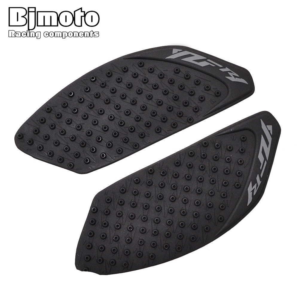 For Yamaha YZF1000 <font><b>R1</b></font> Motorcycle accessories Rubber Tank Traction Pad Knee Grip Protector Anti Slip Moto <font><b>Sticker</b></font> cafe racer image