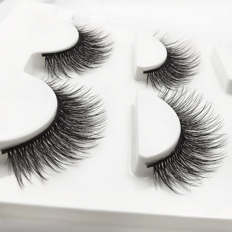 YSDO 3 Pairs Makeup Eyelashes Maquiagem Lashes 3d Mink Hair Fluffy EyeLash Natural False Eye Lashes Strip EyeLash Faux Cilios 1