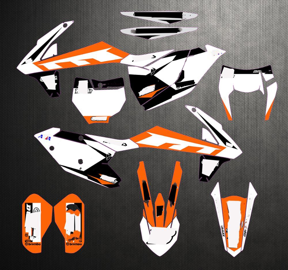 Radiator Protection Cover Decals Stickers For KTM 250 300 SX XC XC-W 2007-2016