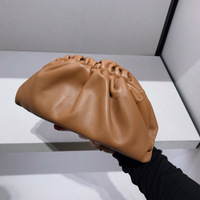 Summer 2019 New Cloud wrapped Soft Leather Madame Bag Single Shoulder Slant Dumpling Bag Handbag Day Clutches bags