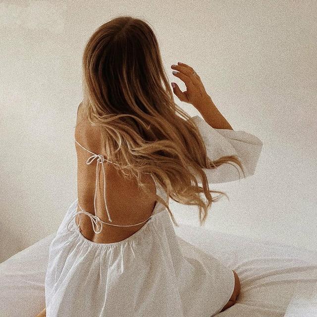 NEDEINS Women Summer Dress Summer Fashion White Elegant Puff Sleeve Backless Party Beach Dress Vacation Casual Mini Dress 4
