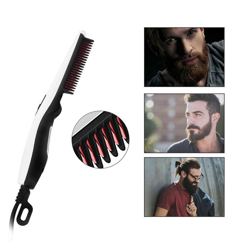 Electric Hair Comb Brush Beard Straightener Straightening Comb Curler Hair Styler Men Beard Hair Brush Comb