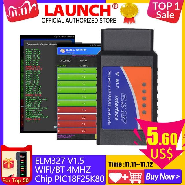 ELM327 V 1,5 Bluetooth/Wifi OBD2 scanner v 1,5 Ulme 327 PIC18F25K80 Auto Diagnose Werkzeug OBDII für Android/IOS/PC/Tablet PK ICAR2