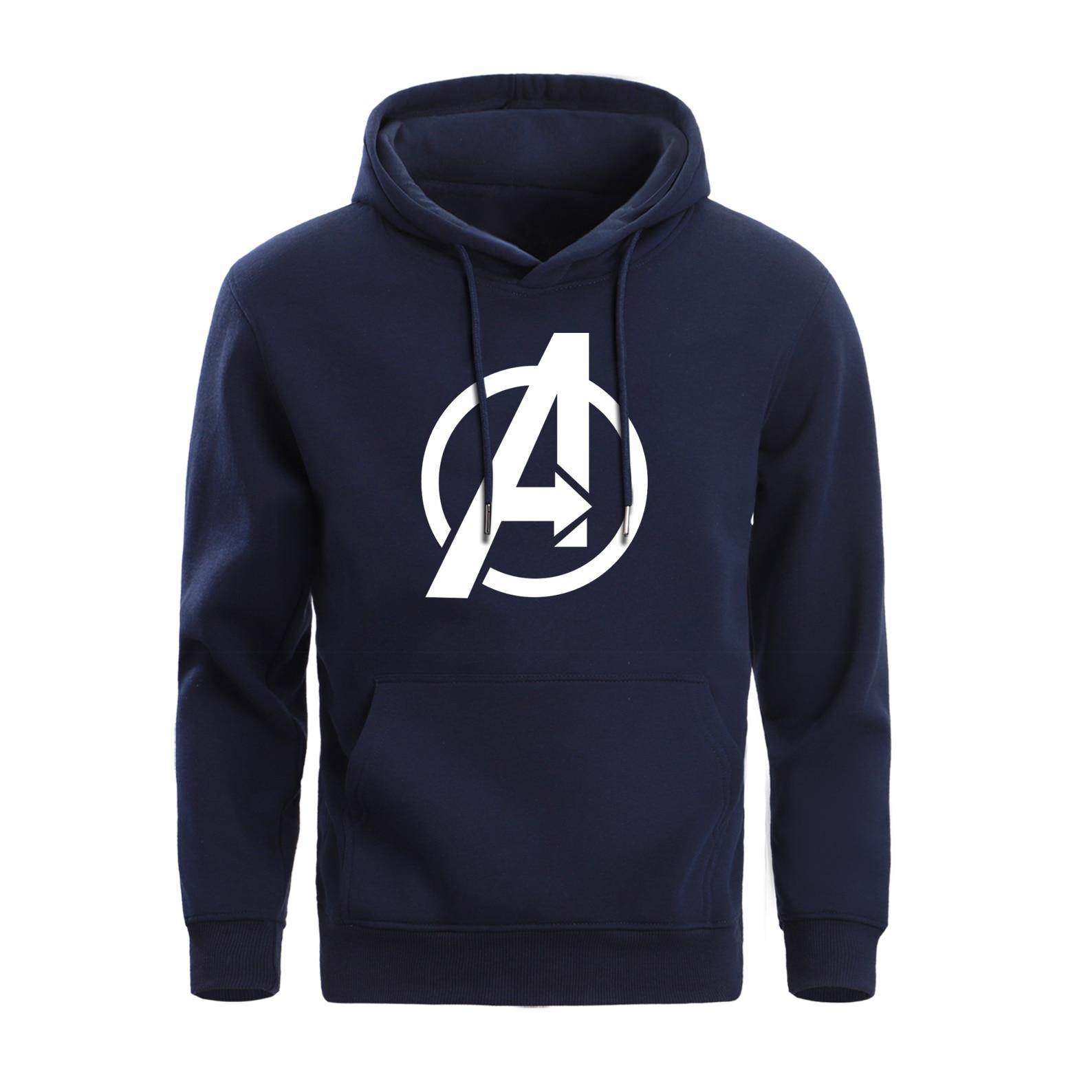 Men Avengers Hoodies Crewneck Marvel Hoodie Winter Fleece Warm Super Hero Sweatshirt Mens Pullover Hoody Sportswear Sweatshirts