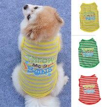 Tshirt Costumes Pet-Cat-Vest Puppy Pets Pug-Apparel Small-Dogs Cotton Summer Cute