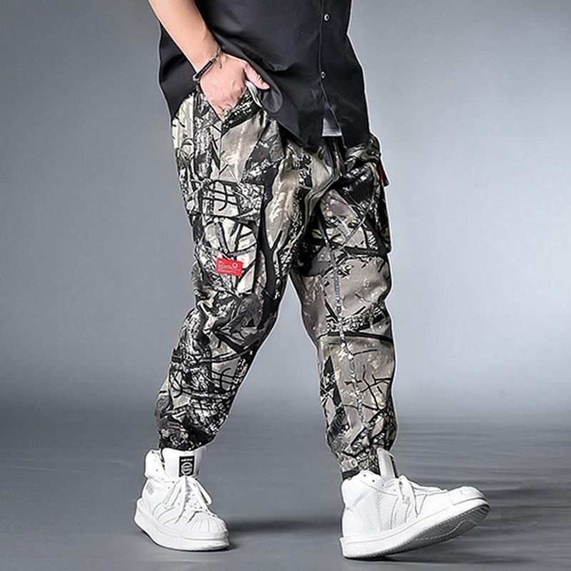 Leaves Print Streetwear Men's Harem Pants Plus Size 7XL 8XL Hip Hop Casual Male Track Pants Big Size Joggers Trousers Men Pants