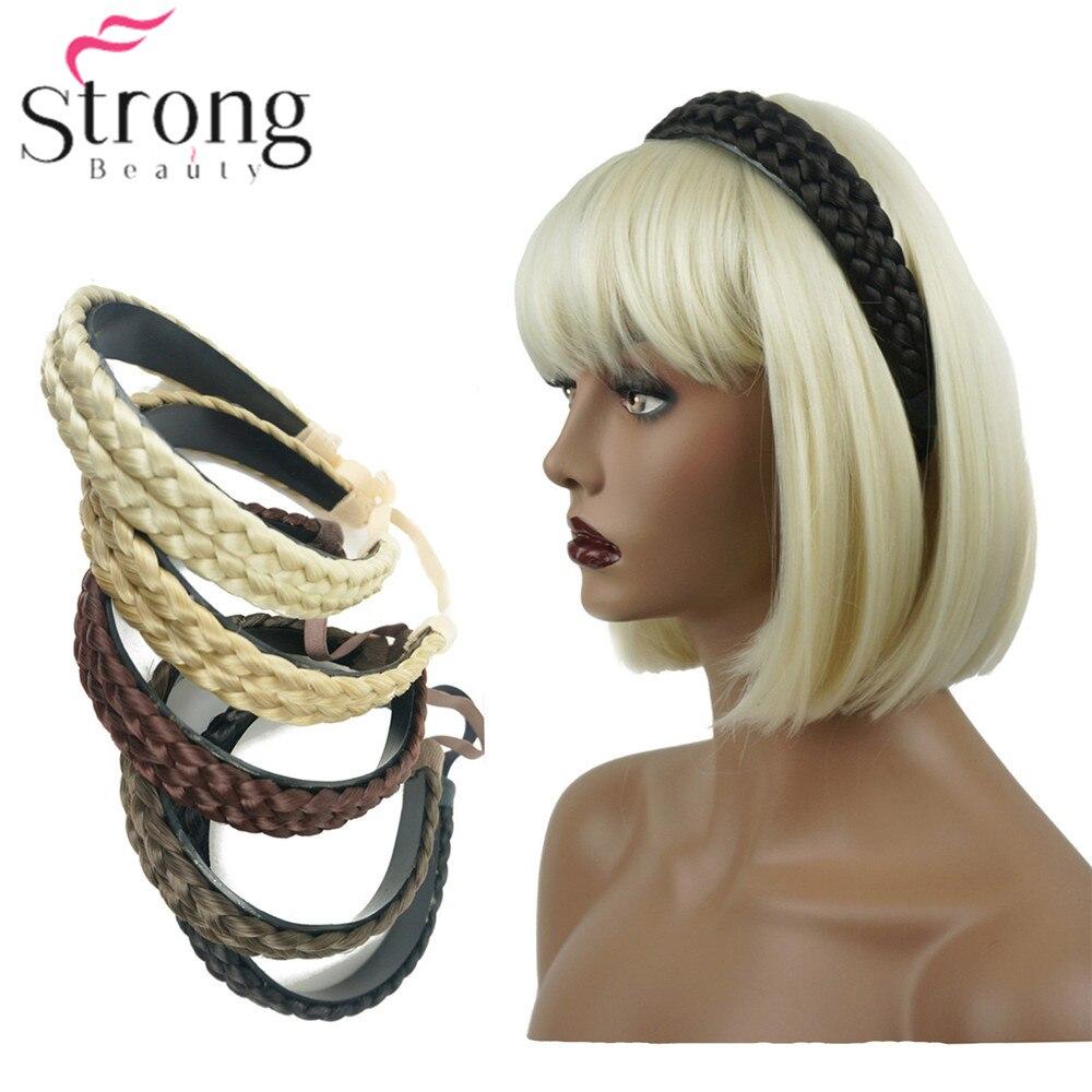 Estilo hairpin Hairband Headbands braid Trançado Sintético das mulheres