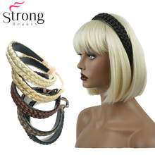 Womens Synthetic Headbands braid Braided Style hairpin Hairband