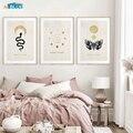 Moderne Abstrakte Gold Mond Phasen Schlange Silhouette Poster Und Druck Leinwand Malerei Wand Kunst Bilder Wohnkultur Für Bettwäsche Zimmer