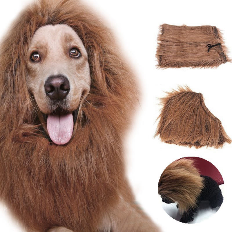 New Arrival Superior Pet Costume Cat Clothes Fancy Dress Up Lion Mane Wig for Cats Small Large Dogs Hot-30