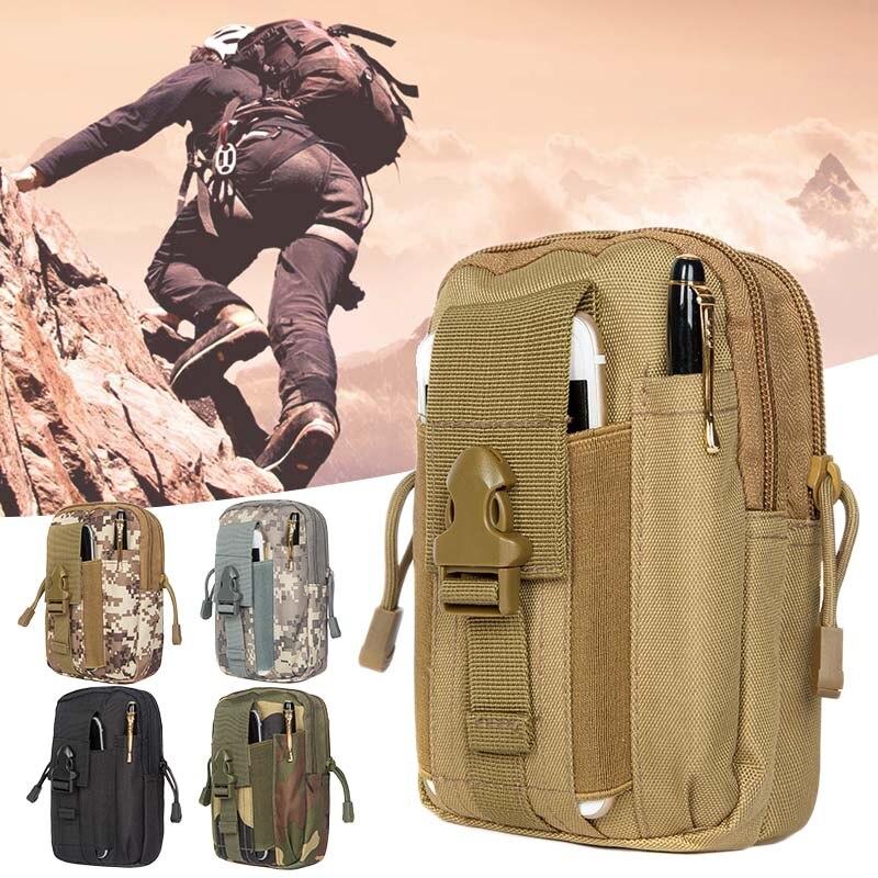 Портативная Водонепроницаемая уличная сумка, Высококачественная походная сумка, многофункциональная тактическая поясная сумка, два места...
