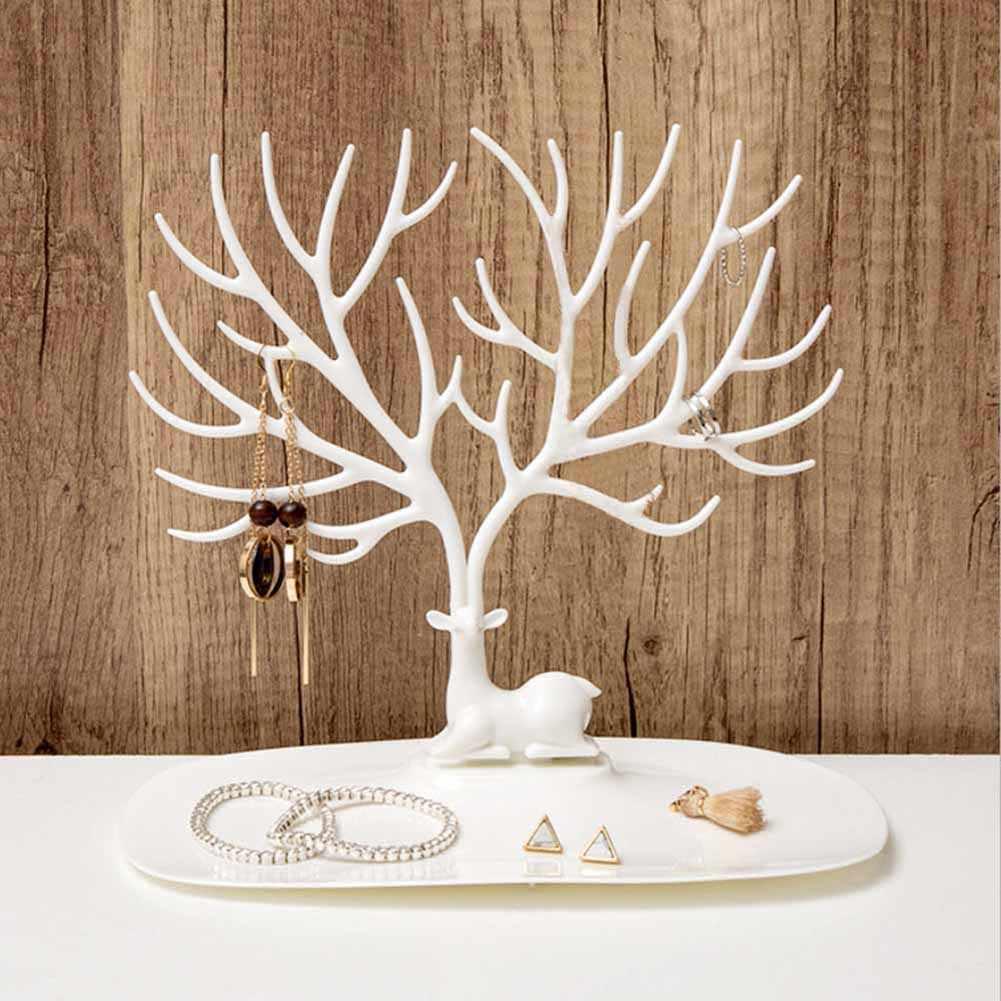 Chic présentoir boucles d'oreilles collier anneau pendentif Bracelet bijoux présentoir plateau arbre rangement coffret à bijoux à compartiments