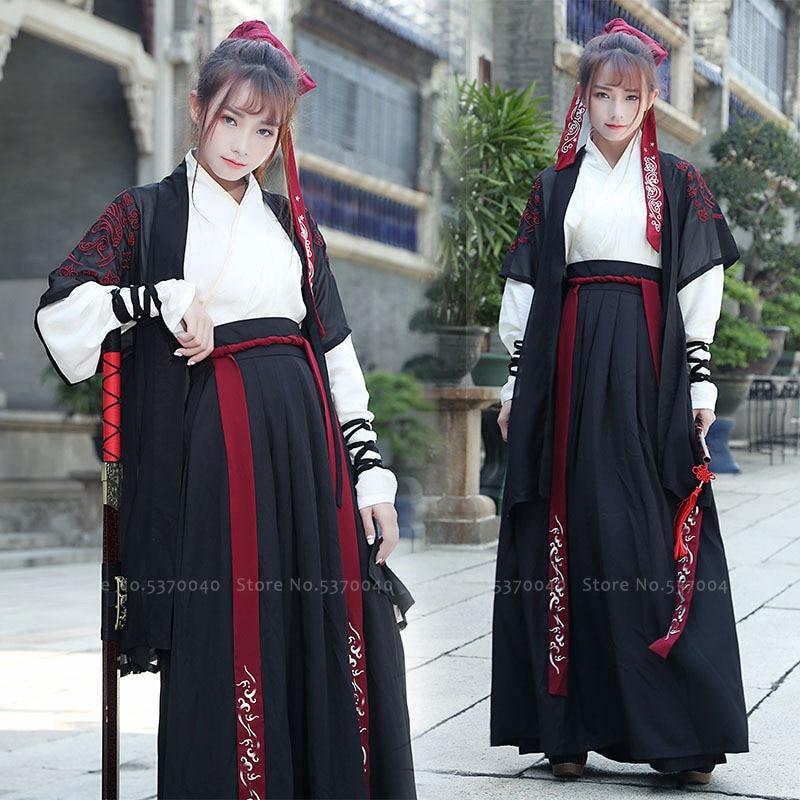 Chinese Hanfu Traditional Tang Suit Japanese Style Samurai Cosplay Costume Haori Kimono Dress Yukata Robes Skirts Party Outfits