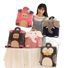Creative Children Cartoon Plush Toy Dual-use Air Conditioner Quilt Kids Pillow&Cushion Used As Blanket Toys