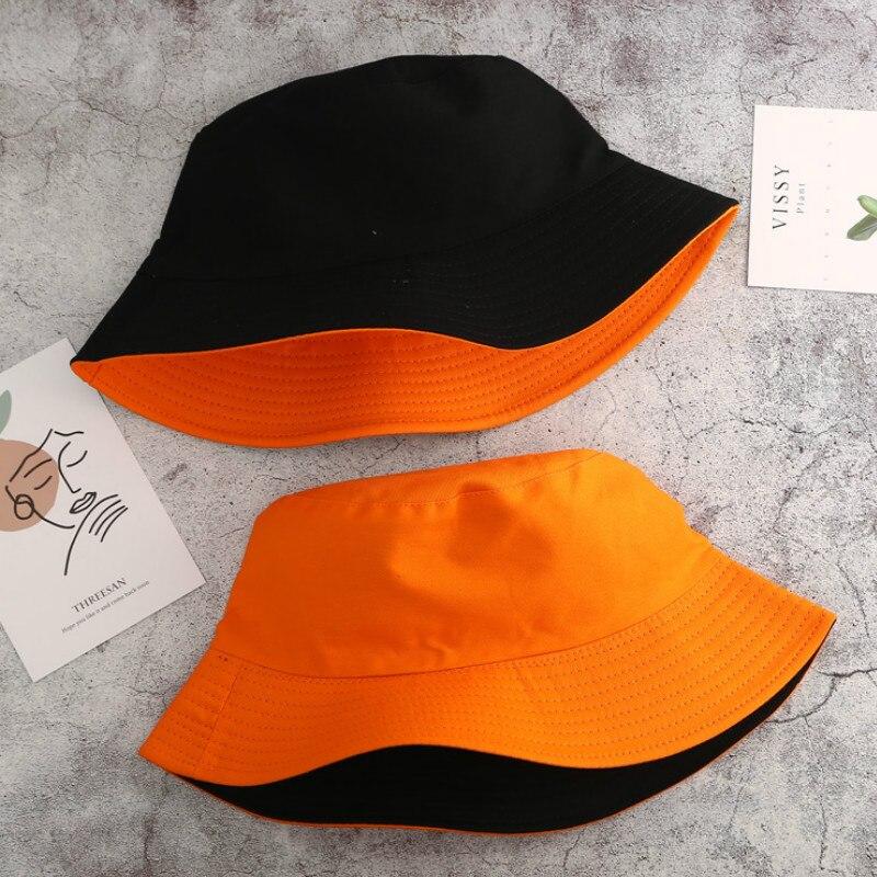 Unisex Summer Foldable Double-sided Bucket Hat Women Outdoor Sunscreen Cotton Fishing Hunting Cap Men Panama Fisherman's Hats