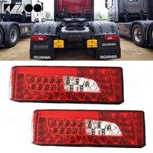 1 пара 24V Автомобильный светодиодный задний светильник хвост светильник s Предупреждение лампа для грузовика Scania светодиодный фонарь светильник s Грузовик Лодка прицеп задние фонари светильник