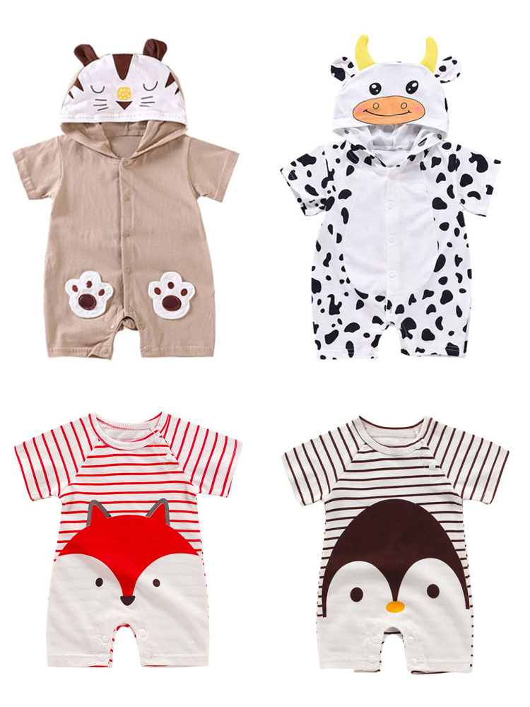 Infant Jumpsuit Rompers Baby-Products Animal Print Cheap Stuff Newborn Girl Cotton Cartoon