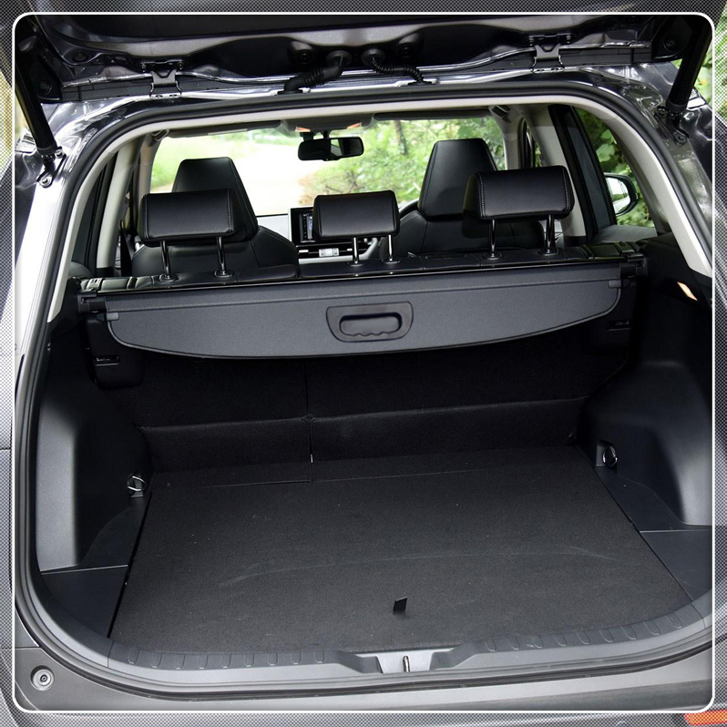 For Toyota RAV4 XA50 2019 Cargo Cover Security Shield Rear Trunk Luggage Parcel Shelf Cover Black Car Styling Accessories