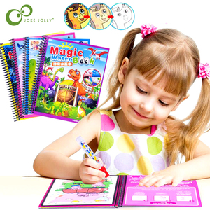 Montessori Coloring Book Doodle & Magic Pen Painting Drawing Board For Kids Toys Magic Water Drawing Book Birthday Gift GYH