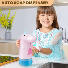 Children Automatic Dispensador Jabon Cocina Cute Dinosaur Auto Intelligent Induction Foam Washing Machine Hand Sanatizer For Kid