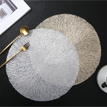 High-end creative hollow PVC non-slip placemat coaster restaurant and hotel decoration plate mat heat insulation pad