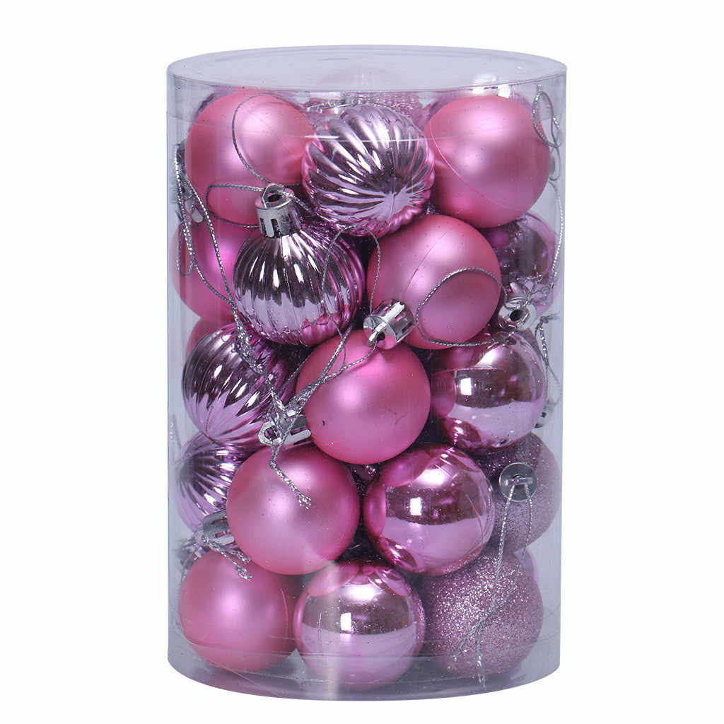 C 34pcs Christmas Tree Xmas Balls Decorations Christmas ball ornaments Baubles Party Wedding Ornament Party decoration FA29