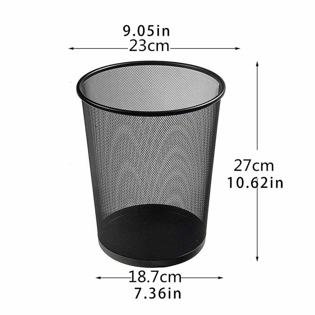 11 Liters Small Metal Mesh Trash Bin Paper Basket Iron Net Cleaning Trash Round Barrel Trash Can Waste Bins Aliexpress